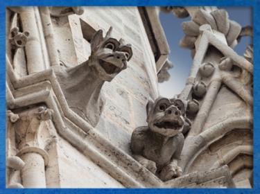 D'après les gargouilles, Notre Dame de Paris, 1163 apjc-début XIVe siècle, art gothique. (Marsailly/Blogostelle)