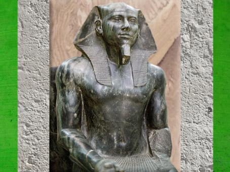 D'après la statue de Khéphren, fils de Khéops, Gizeh, vers 2930-2750 avjc, IVe dynastie, Ancien Empire, Égypte Ancienne. (Marsailly/Blogostelle)
