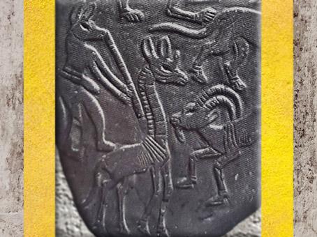 D'après une girafe, et des animaux sauvages et fabuleux, détails, palette à fard, schiste, vers 3400 – 3200 avjc, début de la dynastie Thinite, Hiérakonpolis, Égypte Ancienne. (Marsailly/Blogostelle)