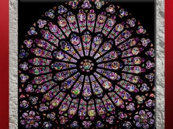D'après la rosace Nord, Vierge à l'Enfant, Ancien Testament, Notre Dame de Paris, 1163 apjc-début XIVe siècle, art gothique. (Marsailly/Blogostelle)