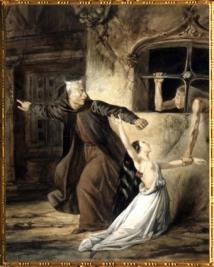 D'après Frollo, Esmeralda et La Sachette, Notre-Dame de Paris, de Louis Boulanger, XIXe siècle. (Marsailly/Blogostelle)