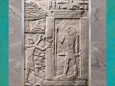 D'après une scène d'offrandes, mastaba d'Akhethétep et de son fils de Ptahotep, vers 2400 avjc, Ve dynastie, Ancien Empire, Saqqara, Égypte Ancienne. (Marsailly/Blogostelle)