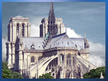 D'après la cathédrale Notre Dame de Paris, chevet, 1163 apjc-début XIVe siècle, art gothique. (Marsailly/Blogostelle)