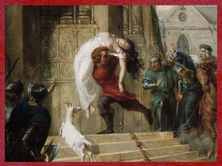 D'après Quasimodo sauve Esmeralda, de Elisa Victorine Henry, détail, 1832, XIXe siècle. (Marsailly/Blogostelle)