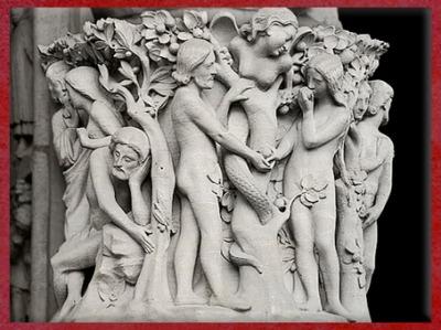 D'après le jardin d'Éden, statue de la Vierge à l'Enfant, Notre-Dame de Paris, 1163 apjc-début XIVe siècle, art gothique. (Marsailly/Blogostelle)