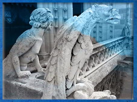 D'après les gargouilles de Notre Dame de Paris, 1163 apjc-début XIVe siècle, art gothique. (Marsailly/Blogostelle)