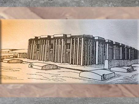 D'après le mastaba de la reine Merneith à Saqqara, reconstitution, Iere dynastie Thinite, Égypte Ancienne. (Marsailly/Blogostelle)