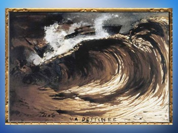 D'après Ma Destinée, deVictor Hugo,1867 apjc, ;plume, lavis d'encre, gouache, vélin. (Marsailly/Blogostelle)