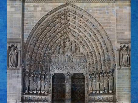 D'après Notre Dame de Paris, portail, 1163 apjc-début XIVe siècle, art gothique. (Marsailly/Blogostelle)