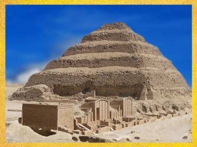 D'après la pyramide à degré du roi Djoser, vers 2980 – 2930 avjc, IIIe dynastie, Ancien Empire, Égypte Ancienne. (Marsailly/Blogostelle)