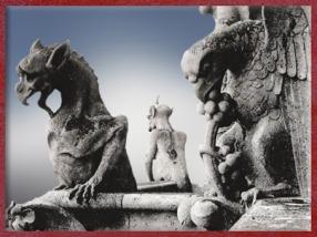 D'après les gargouilles de Notre Dame de Paris, 1163 apjc-début XIVe siècle, art gothique. (Marsailly/Blogostelle