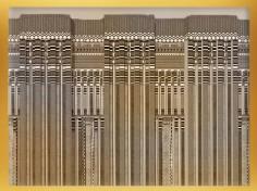 D'après des motifs en façade de palais, reconstitution d'un décor de mastaba, époque Thinite-ancien Empire, Égypte Ancienne. (Marsailly/Blogostelle)