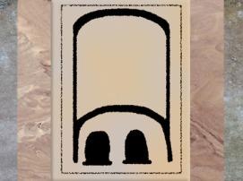 D'après les mastabas d'Abydos à grandes stèles, schéma, dynastie Thinite, Égypte Ancienne. (Marsailly/Blogostelle)