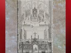 D'après le choeur gothique, clôture et jubé, dessin Viollet-le-duc, Dictionnaire raisonné de l'architecture française du XIe au XVIe siècle,1854-1868 apjc. (Marsailly/Blogostelle)