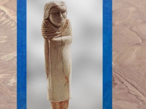 D'après une statuette de femme, ivoire d'hippopotame, vers 3400 – 2980 avjc, dynastie Thinite, Égypte Ancienne. (Marsailly/Blogostelle)