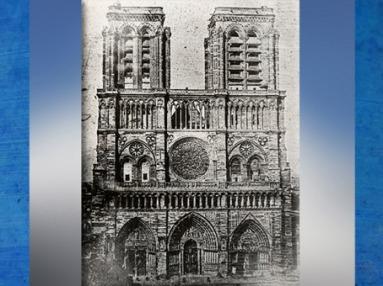 D'après un daguerréotype, N. M. P. Lerebours (1807-1873), Notre-Dame de Paris en 1840, avant restauration, Oxford. (Marsailly/Blogostelle)