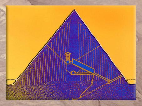 D'après un schéma de la pyramide de Khéops, plateau de Gizeh, vers 2930-2750 avjc, IVe dynastie, Ancien Empire, Saqqara, Égypte Ancienne. (Marsailly/Blogostelle)