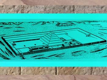 D'après l'ensemble funéraire du roi Djoser, avec pyramide et esplanade, vers 2980 – 2930 avjc, IIIe dynastie, Ancien Empire, Égypte Ancienne. (Marsailly/Blogostelle)