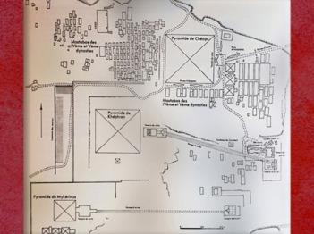 D'après l'ensemble des pyramides de Khéops, Khéphren et Mykérinos, vers 2930-2750 avjc, IVe dynastie, Ancien Empire, plateau de Gizeh, Saqqara, Égypte Ancienne. (Marsailly/Blogostelle)