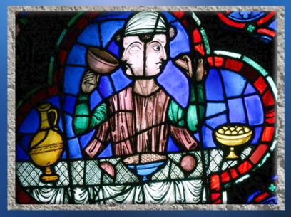 D'après un vitrail, Janus, Notre Dame de Paris, 1163 apjc-début XIVe siècle, art gothique. (Marsailly/Blogostelle)