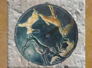 D'après une ronde d'animaux, stéatite et albâtre coloré, tombe de Hémaka, vers 3400 – 3200 avjc, première dynastie Thinite, Saqqara, Égypte Ancienne. (Marsailly/Blogostelle)