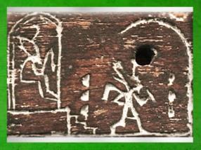 D'après la fête-Sed du roi Den, course rituelle, bois d'ébène, Abydos, vers 3400 – 3200 avjc, première dynastie Thinite, Égypte Ancienne. (Marsailly/Blogostelle)