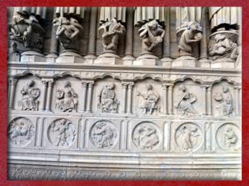 D'après les 12 médaillons symboliques, Notre-Dame de Paris, portail central. (Marsailly/Blogostelle)