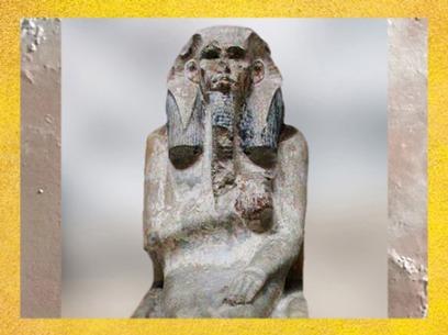 D'après Djoser trônant, coiffé du némès royal, statue calcaire, vers 2980 – 2930 avjc, IIIe dynastie, Ancien Empire, Saqqara,Égypte Ancienne. (Marsailly/Blogostelle)