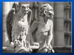 D'après des gargouilles, Notre Dame de Paris, 1163 apjc-début XIVe siècle, art gothique. (Marsailly/Blogostelle)