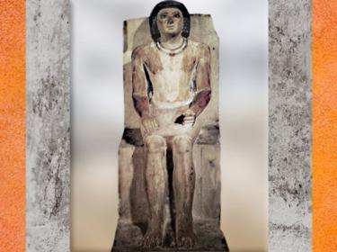 D'après la statue de Kai, calcaire peint, vers 2750-2625 avjc, Ve dynastie, Saqqara, Ancien Empire, Égypte Ancienne. (Marsailly/Blogostelle)