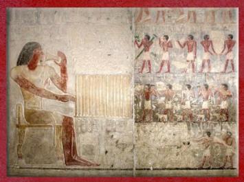 D'après le festin du défunt, listes de mets et boissons, chapelle de Ptahotep, fils d'Akhethétep, nécropole de Saqqara, mastaba d'Akhethétep, Ve dynastie, Ancien Empire, Égypte Ancienne. (Marsailly/Blogostelle)