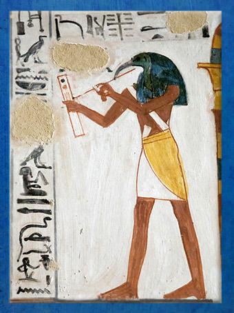 D'après le dieu Thot ibis, chapelle de Sésostris Ier, XIIe dynastie, Moyen Empire, Karnak, Égypte Ancienne. (Marsailly/Blogostelle)