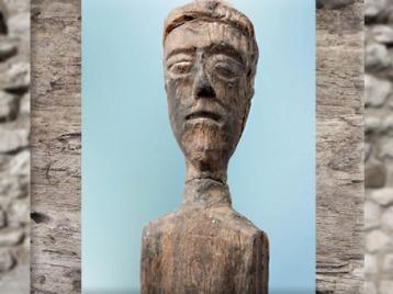 D'après un ex-voto, buste masculin, bois, Source de la Seine, vers Ier siècle avjc- Ier siècle apjc, Gaule romaine. (Marsailly/Blogostelle)