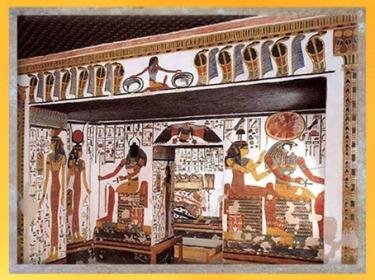 D'après Khépri, Soleil Levant, tombe de Nefertari, épouse de Ramsès II, XIXe dynastie, Nouvel Empire, Vallée des Reine, Thèbes, actuel Louxor, Égypte Ancienne. (Marsailly/Blogostelle)