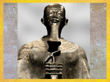 D'après le dieu Ptah, qui porte un sceptre ouas-pilier Djed, règne d'Aménophis III, XVIIIe dynastie, Nouvel Empire, Thèbes, Égypte Ancienne. (Marsailly/Blogostelle)