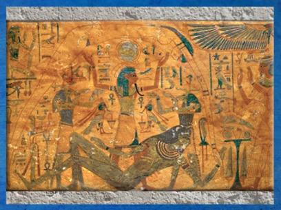 D'après la séparation de Geb et de Nout, sarcophage de Paser, vizir sous Ramsès I, Séthi et Ramsès II, Nouvel Empire, Cheikh Abd el-Gournah, Thèbes, Égypte Ancienne. (Marsailly/Blogostelle)