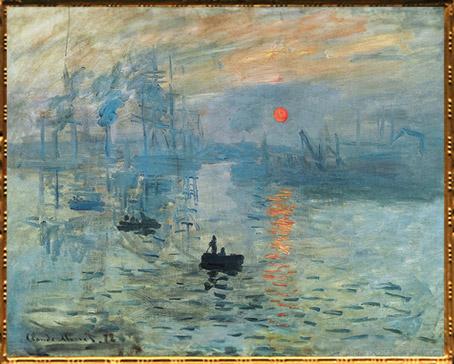 D'après Impression, soleil levant, de Claude Monet, huile sur toile, 1872 apjc, XIXe siècle. (Marsailly/Blogostelle)