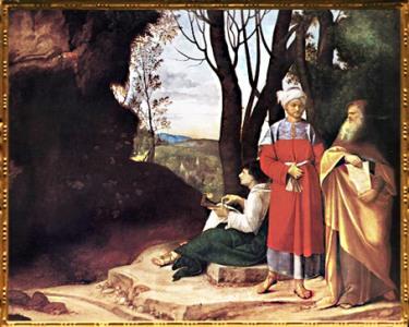 D'après Les Trois Philosophes, ou les Trois religions du Livre, 1508-1509, Giorgione, Renaissance italienne. (Marsailly/Blogostelle)
