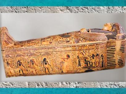 D'après le voyage nocturne du Soleil, sarcophage de Paser, vizir de Ramsès II, XIXe dynastie, Nouvel Empire, Thèbes, Égypte Ancienne. (Marsailly/Blogostelle)