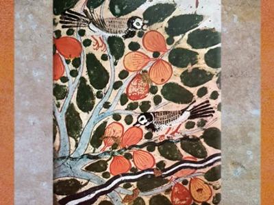 D'après l'arbre sacré, sycomore et figues, tombe de Ouserhat, Thèbes, époque Ramesside, Égypte Ancienne. (Marsailly/Blogostelle)