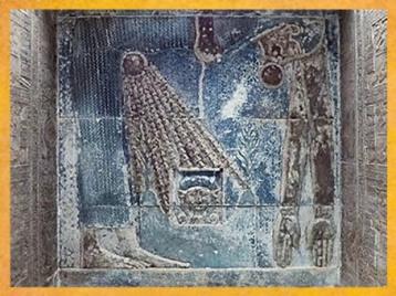 D'après Nout qui redonne naissance au Soleil du matin, et qui illumine Hathor, chapelle d'Hathor, de Pépi Ier, VIe dynastie, à l'époque Ptolémaïque, temple de Dendérah, Égypte Ancienne. (Marsailly/Blogostelle)
