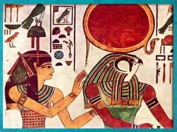 D'après Imentet, déesse de l'Occident, et Rê, tombe de Nefertari, épouse Ramsès II, XIXe dynastie, Vallée des rois, Nouvel Empire,Égypte Ancienne. (Marsailly/Blogostelle)