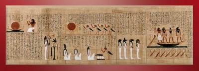 D'après le papyrus d'Imenemsaouf, chef des porteurs de bouclier d'Amon, XXIe -XXIIe dynastie, Troisième période intermédiaire,Égypte Ancienne. (Marsailly/Blogostelle)