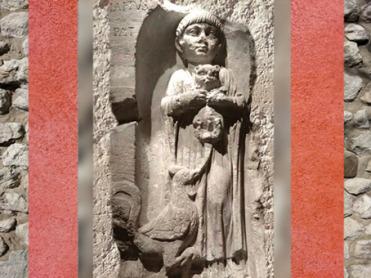 D'après une stèle funéraire, sommaire, Gaule Romaine, histoire de l'art. (Marsailly/Blogostelle)