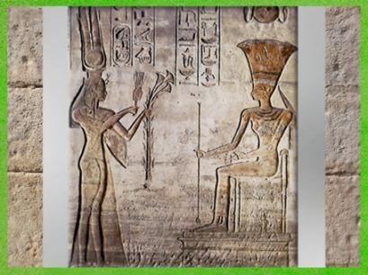 D'après la déesse Hathor, et la reine Néfertari, épouse de Ramsès II, petit temple d'Abou Simbel, XIXᵉ dynastie, Nouvel Empire,Égypte Ancienne. (Marsailly/Blogostelle)