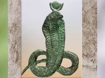D'après la déesse cobra, Ouadjet, bronze, vers 332 – 30 avjc, époque Ptolémaïque, Égypte Ancienne. (Marsailly/Blogostelle)