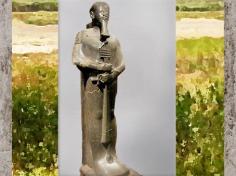 D'après le dieu Ptah et le sceptre Ouas-pilier Djed d'Osiris, XVIIIe dynastie, règne Aménophis III, Thèbes,Nouvel Empire, Égypte Ancienne. (Marsailly/Blogostelle)