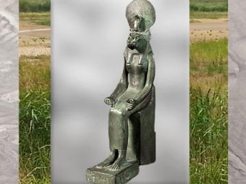 D'après la déesse Sekhmet, bronze, XXVIe-XXXe dynastie, Basse Époque, Égypte Ancienne. (Marsailly/Blogostelle)