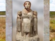 D'après Nefertoum et ses filles, calcaire peint, vers 1800 - 1700 avjc, fin XIIe -début XIIIe dynastie, Memphis (?), Moyen Empire-Deuxième période intermédiaire, Égypte Ancienne. (Marsailly/Blogostelle)