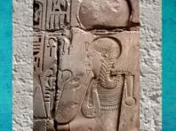 D'après Khonsou coiffé du disque lunaire et de la mèche de l'enfance, temple de Khonsou, époque Ramsès II, Thèbes, XIXe dynastie, Karnak, Nouvel Empire, Égypte Ancienne. (Marsailly/Blogostelle)